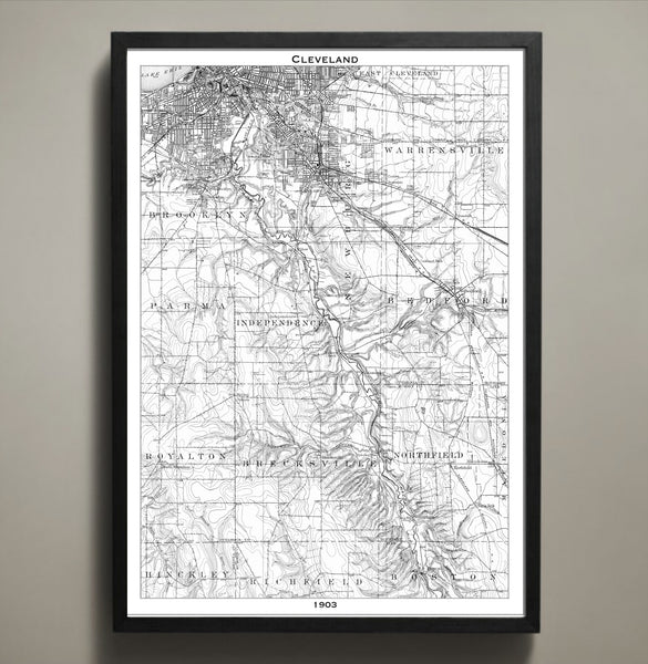 Map Print, CLEVELAND - Map Prints by GeoArtShed  - 2