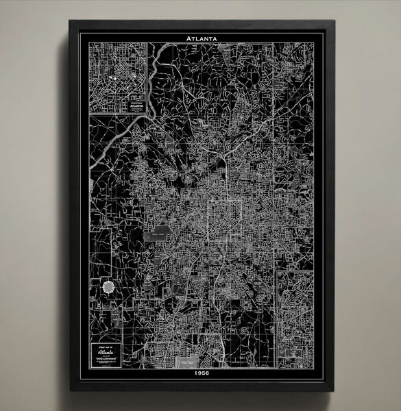 Map Print, ATLANTA - Map Prints by GeoArtShed  - 1