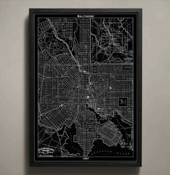 Map Print, BALTIMORE - Map Prints by GeoArtShed  - 1