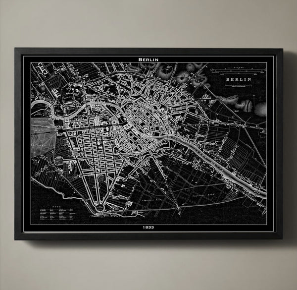 Map Print, BERLIN - Map Prints by GeoArtShed  - 1