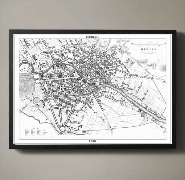Map Print, BERLIN - Map Prints by GeoArtShed  - 2