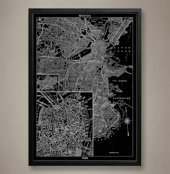 Map Print, BOSTON - Map Prints by GeoArtShed  - 1