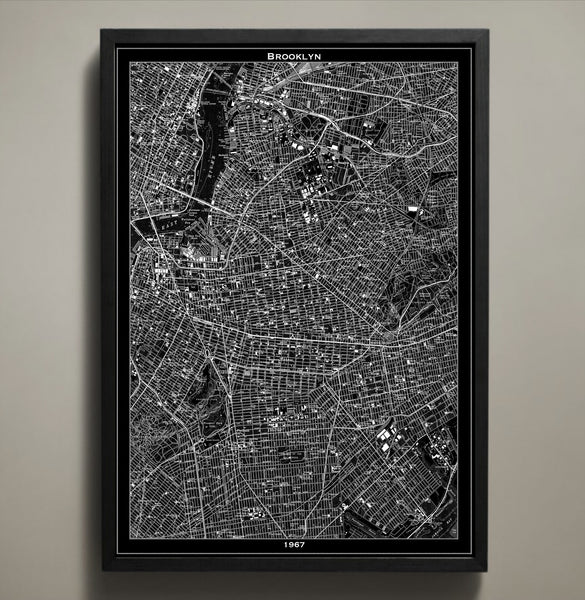 Map Print, BROOKLYN - Map Prints by GeoArtShed  - 1