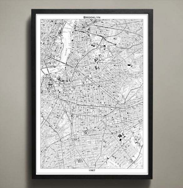 Map Print, BROOKLYN - Map Prints by GeoArtShed  - 2