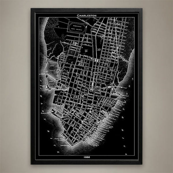 Map Print, Charleston - Map Prints by GeoArtShed  - 1