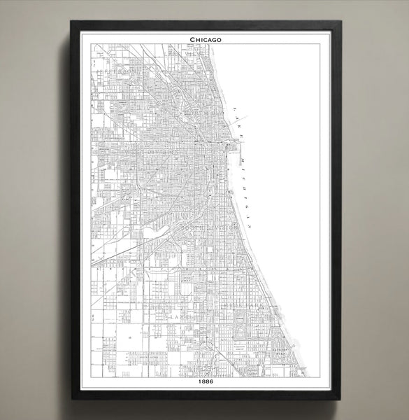 Map Print, CHICAGO - Map Prints by GeoArtShed  - 1
