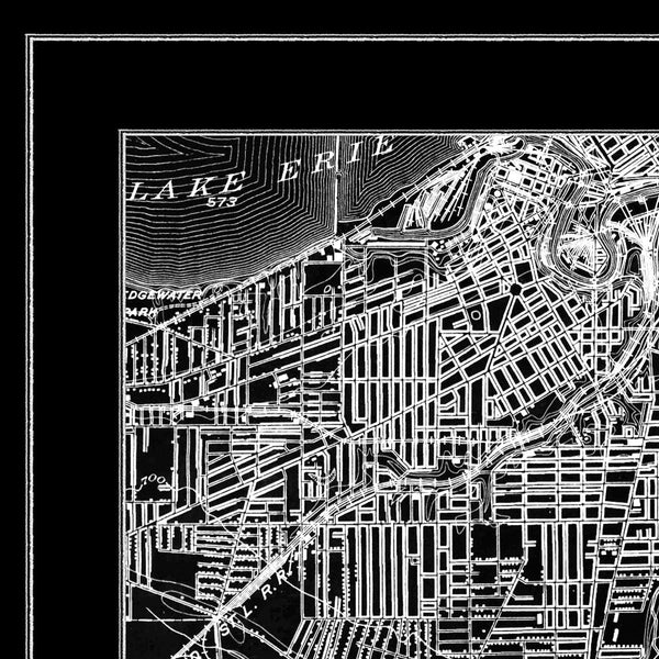 Map Print, CLEVELAND - Map Prints by GeoArtShed  - 3