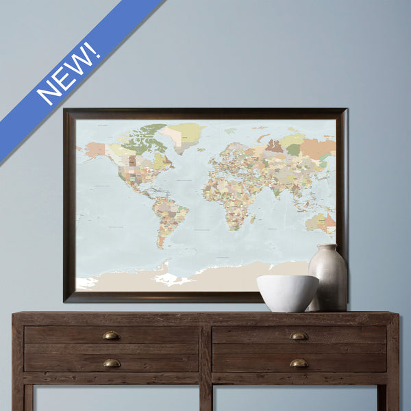 Push Pin Travel Maps Map Prints by GeoArtShed – Push Pin Travel Maps