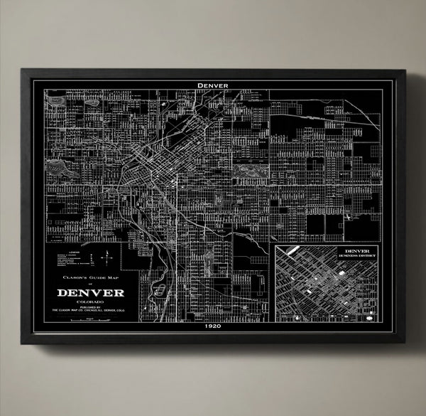 Map Print, DENVER - Map Prints by GeoArtShed  - 1