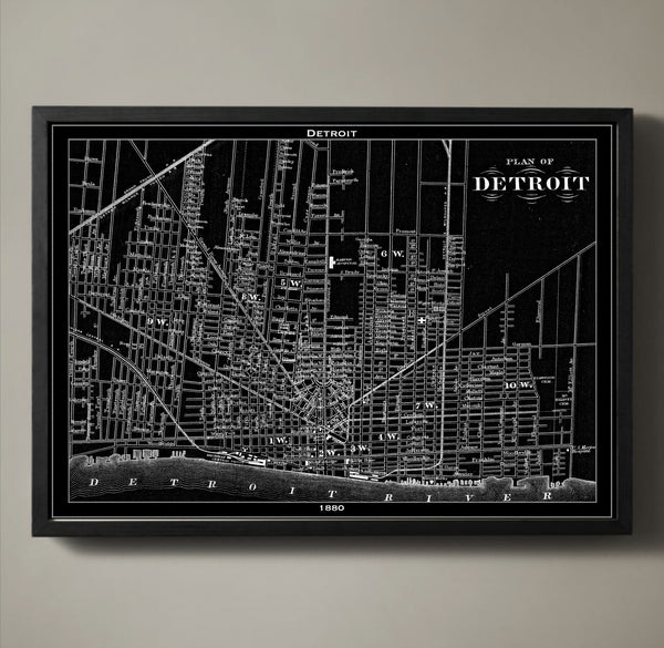 Map Print, DETROIT - Map Prints by GeoArtShed  - 2