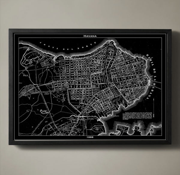 Map Print, HAVANA - Map Prints by GeoArtShed  - 1
