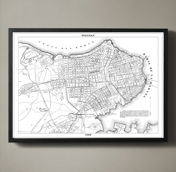 Map Print, HAVANA - Map Prints by GeoArtShed  - 2