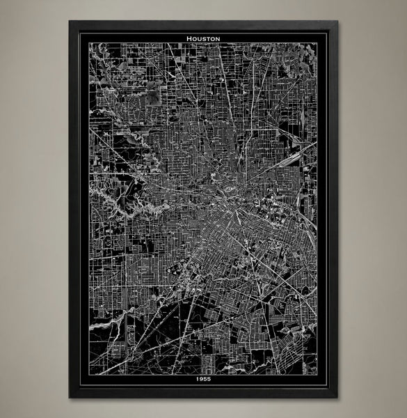 Map Print, Houston - Map Prints by GeoArtShed  - 1
