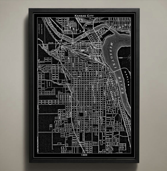 Map Print, KANSAS CITY - Map Prints by GeoArtShed  - 1