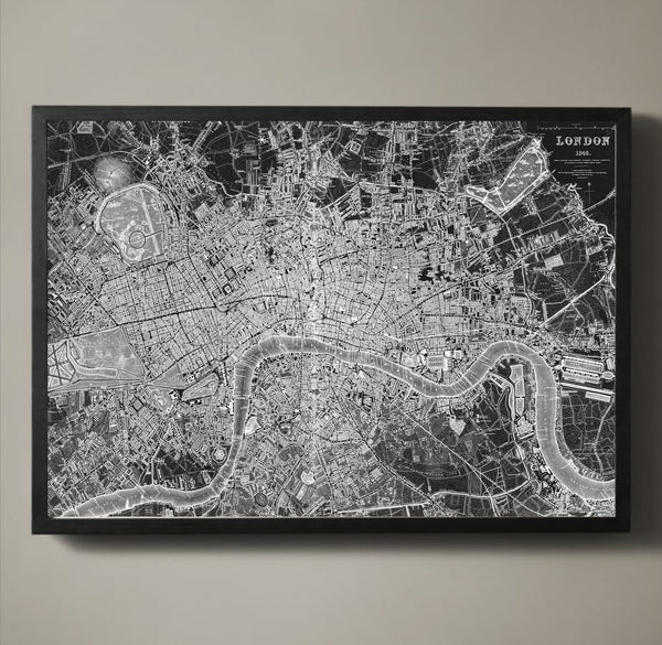 Map Print, LONDON - Map Prints by GeoArtShed  - 2