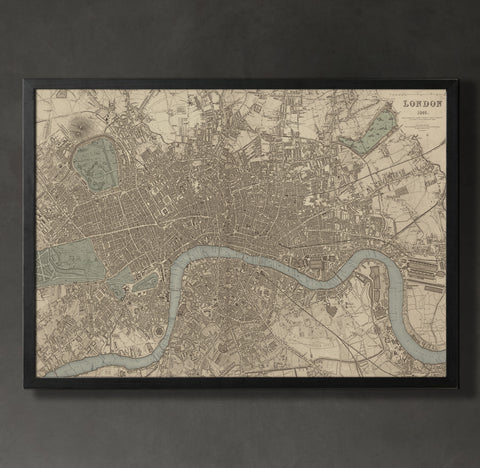 Map prints for the home or office map print london map prints by geoartshed 1 gumiabroncs Image collections