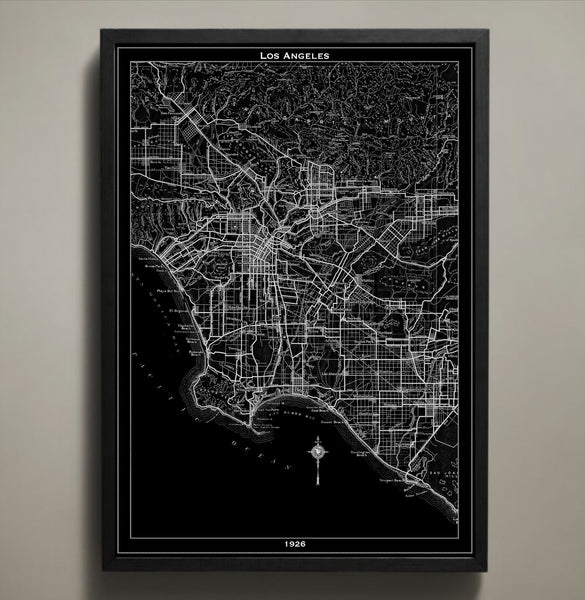 Map Print, LOS ANGELES - Map Prints by GeoArtShed  - 1