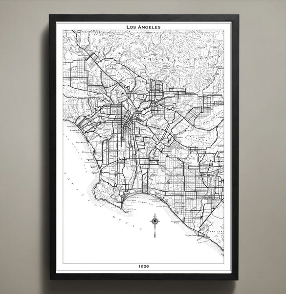 photo relating to Printable Map of Los Angeles known as Map Print, LOS ANGELES