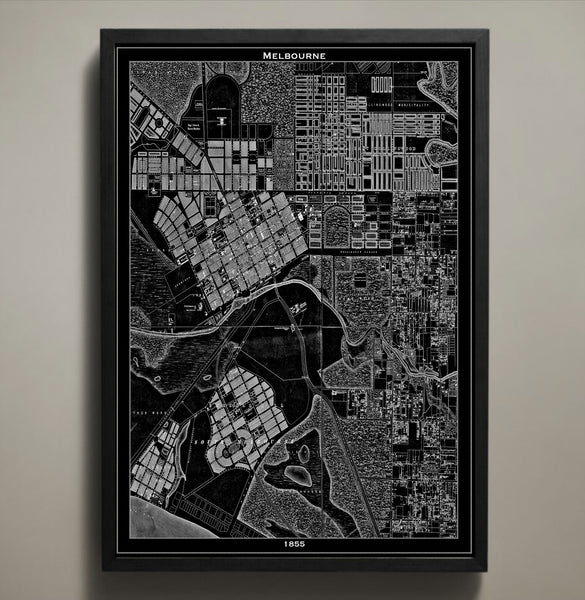 Map Print, MELBOURNE - Map Prints by GeoArtShed  - 1