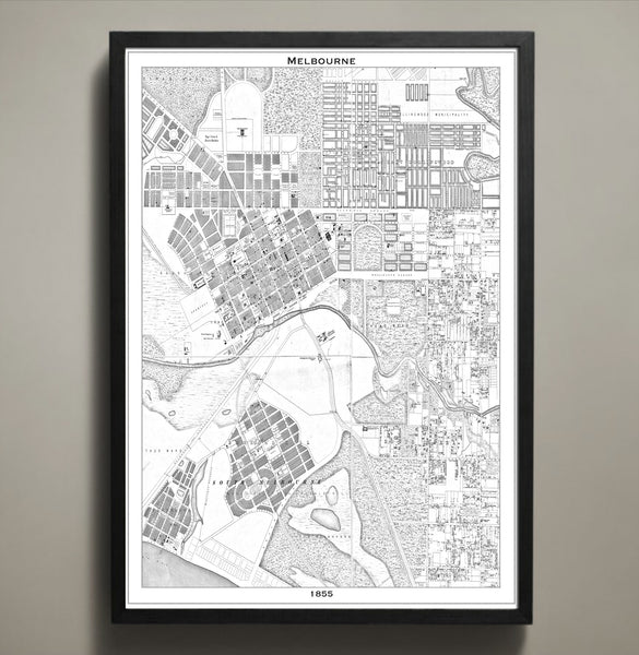 Map print melbourne map prints by geoartshed 2