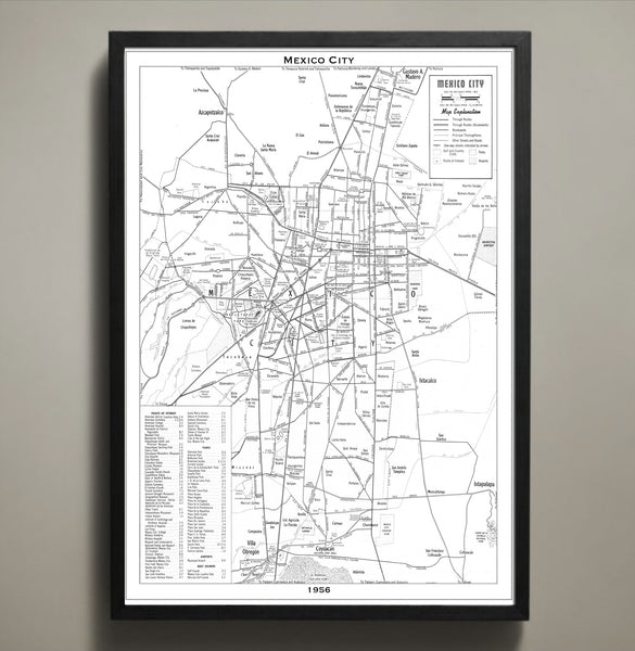 Map Print, MEXICO CITY - Map Prints by GeoArtShed  - 2