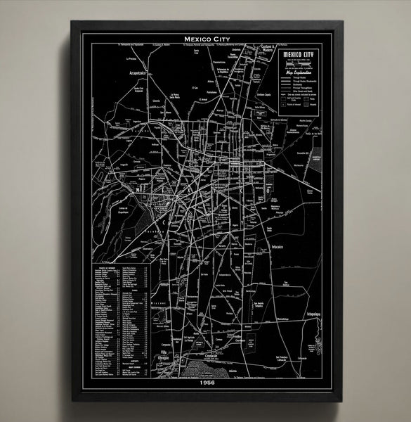 Map Print, MEXICO CITY - Map Prints by GeoArtShed  - 1