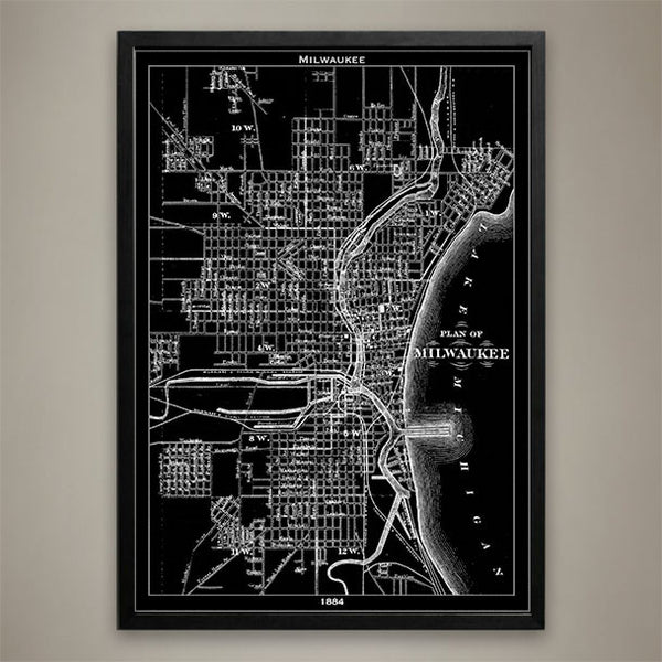 Map Print, Milwaukee - Map Prints by GeoArtShed  - 1