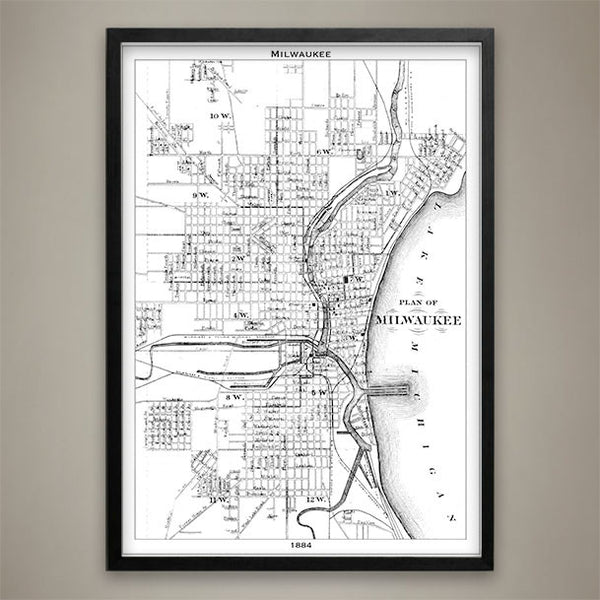 Map Print, Milwaukee - Map Prints by GeoArtShed  - 2
