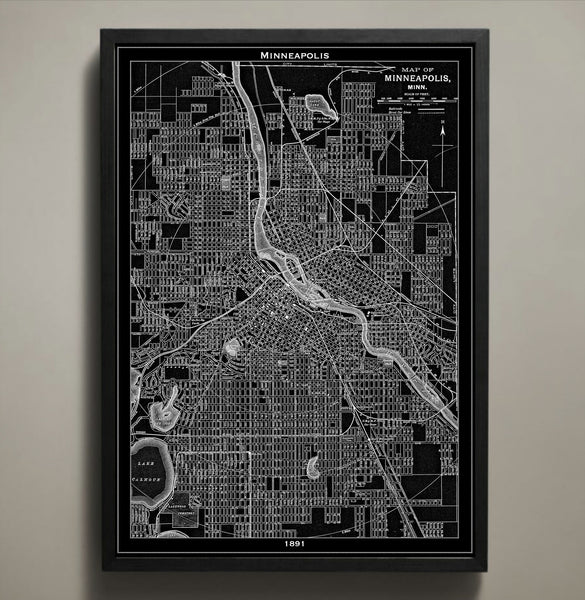 Map Print, MINNEAPOLIS - Map Prints by GeoArtShed  - 1