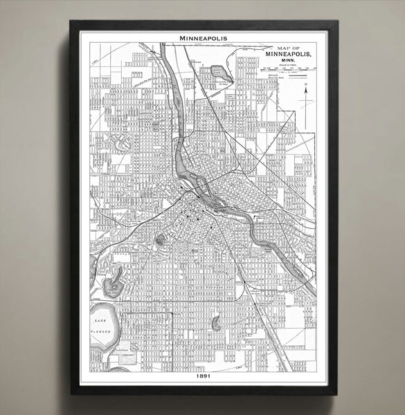 Map Print, MINNEAPOLIS - Map Prints by GeoArtShed  - 2
