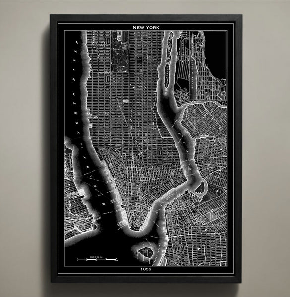 Map Print, NEW YORK CITY - Map Prints by GeoArtShed  - 1