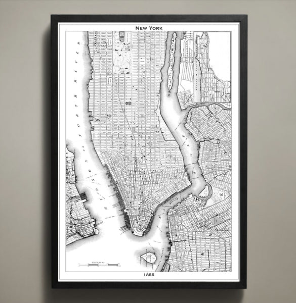 Map Print, NEW YORK CITY - Map Prints by GeoArtShed  - 2