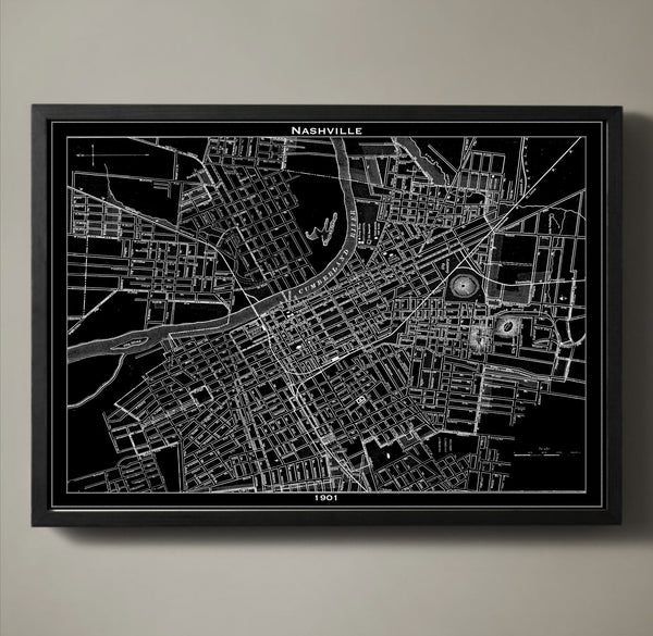 Map Print, NASHVILLE - Map Prints by GeoArtShed  - 1