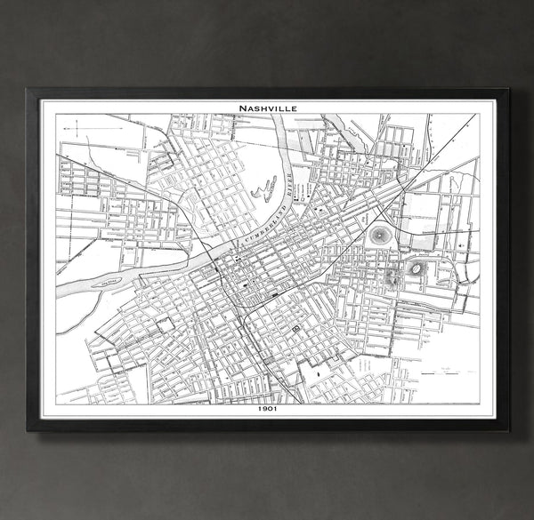 Map Print, NASHVILLE - Map Prints by GeoArtShed  - 2