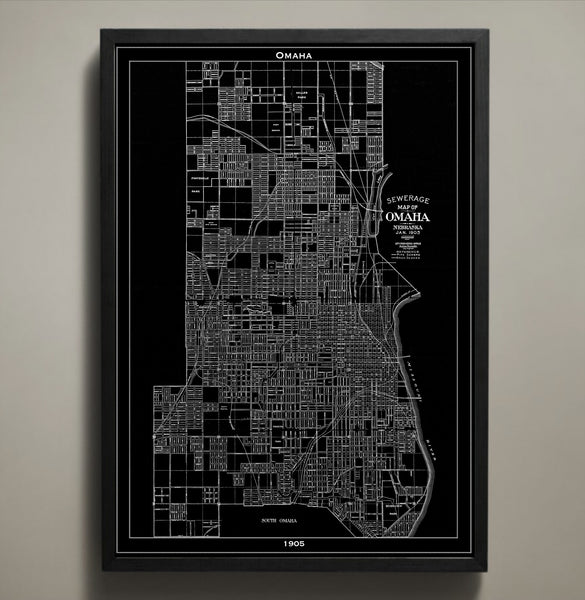 Map Print, Omaha - Map Prints by GeoArtShed  - 1