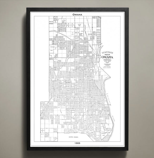 Map Print, Omaha - Map Prints by GeoArtShed  - 2