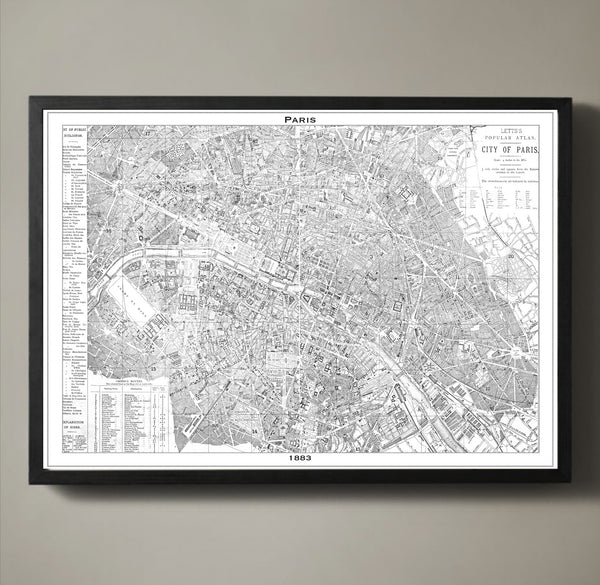 Map Print, PARIS - Map Prints by GeoArtShed  - 3