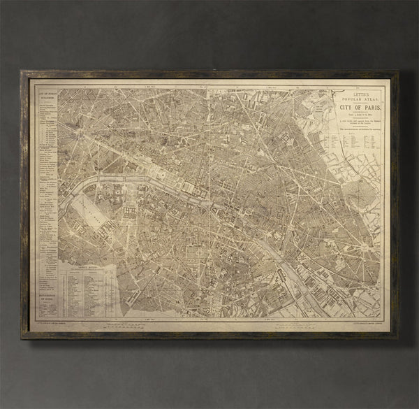 Map Print, PARIS - Map Prints by GeoArtShed  - 1