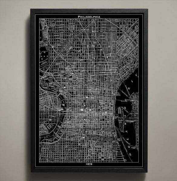 Map Print, PHILADELPHIA - Map Prints by GeoArtShed  - 1