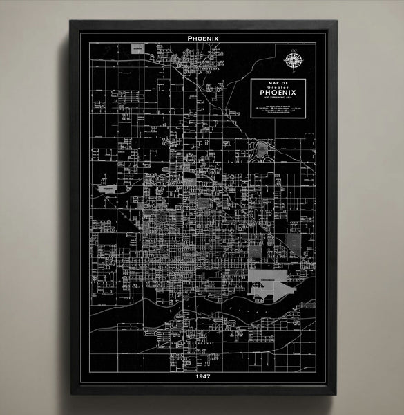 Map Print, PHOENIX - Map Prints by GeoArtShed  - 1