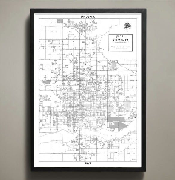 Map Print, PHOENIX - Map Prints by GeoArtShed  - 2