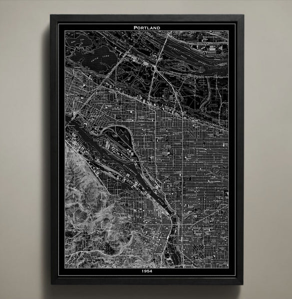 Map Print, PORTLAND - Map Prints by GeoArtShed  - 2