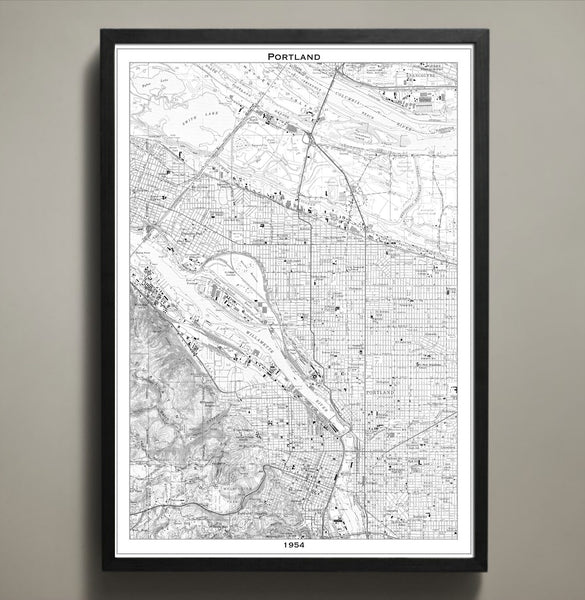 Map Print, PORTLAND - Map Prints by GeoArtShed  - 1