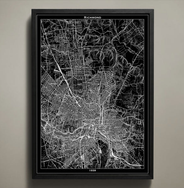 Map Print, RICHMOND - Map Prints by GeoArtShed  - 2