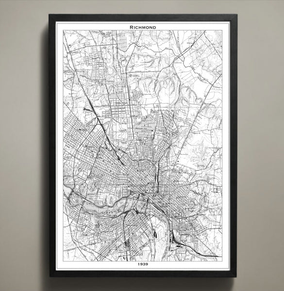 Map Print, RICHMOND - Map Prints by GeoArtShed  - 1