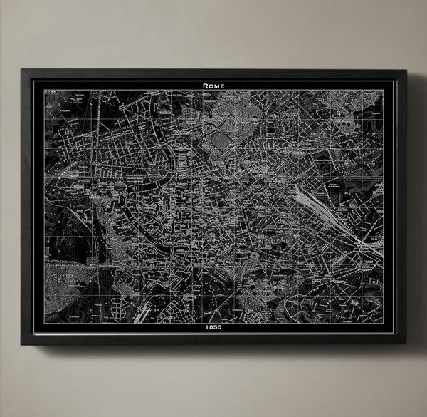 Map Print, ROME - Map Prints by GeoArtShed  - 1