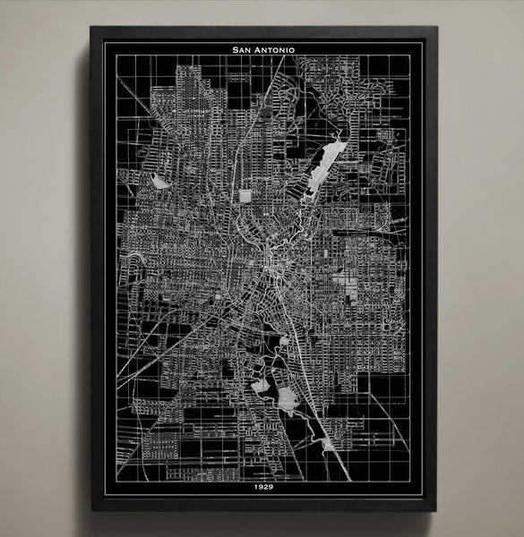 Map Print, SAN ANTONIO - Map Prints by GeoArtShed  - 1