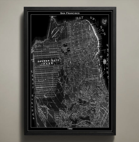 Map Print, SAN FRANCISCO - Map Prints by GeoArtShed  - 1