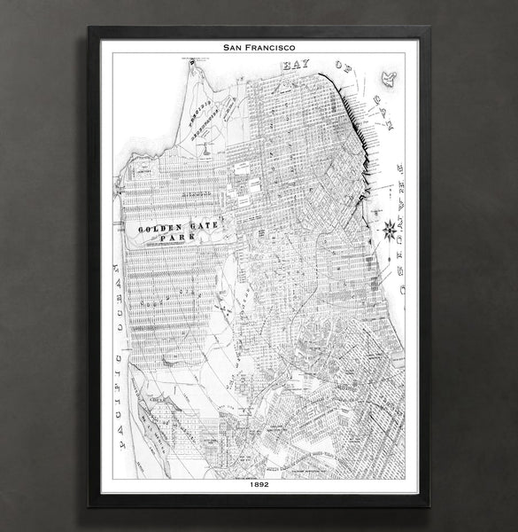 Map Print, SAN FRANCISCO - Map Prints by GeoArtShed  - 2