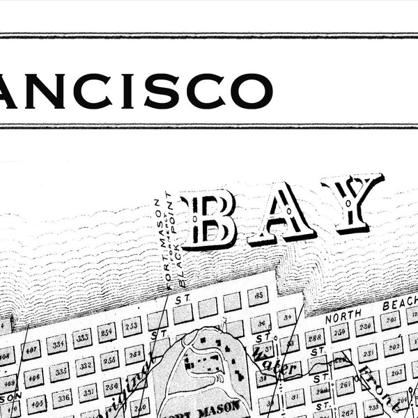Map Print, SAN FRANCISCO - Map Prints by GeoArtShed  - 4